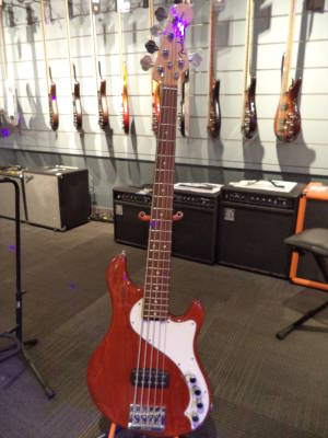 American Deluxe Dimension V Bass - Cayenne Burst