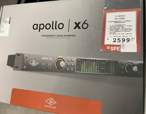 Apollo x6 16x22 Thunderbolt 3 Audio Interface w/Realtime UAD Processing