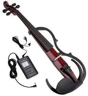 YAMAHA SILENT VIOLIN W/DIGITAL STUDIO- WINE RED