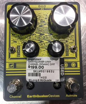 earthquaker devices gray channel dynamic dirt doubler overdrive pedal long mcquade musical. Black Bedroom Furniture Sets. Home Design Ideas