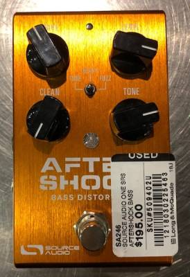 Store Special Product - Source Audio One Series Aftershock Bass Distortion Pedal