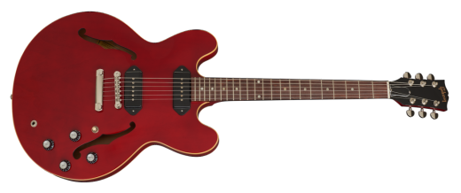 Gibson ES-335 Plaintop P-90 - Wine Red