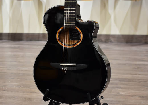 NTX Solid Spruce Top Acoustic/Electric Nylon - Black