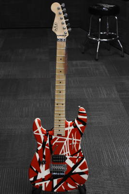 Striped Series R/B/W Electric Guitar - Left-Handed