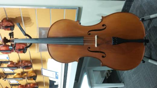 4/4 Student Cello Outfit with Padded Bag, Bow and Rosin