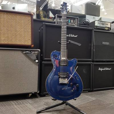 LGXT AAA Flame Maple Electric Guitar w/ vbgse Bag - Trans Blue