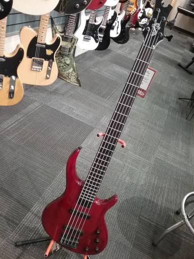 Store Special Product - Toby Deluxe V 5-String Bass - Translucent Red