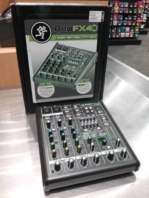 Store Special Product - Mackie 4-Channel Mixer w/Effects (ProFX4 V2)