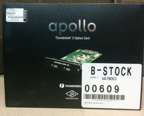 B-Stock Thunderbolt 3 Option Card for Apollo Interfaces