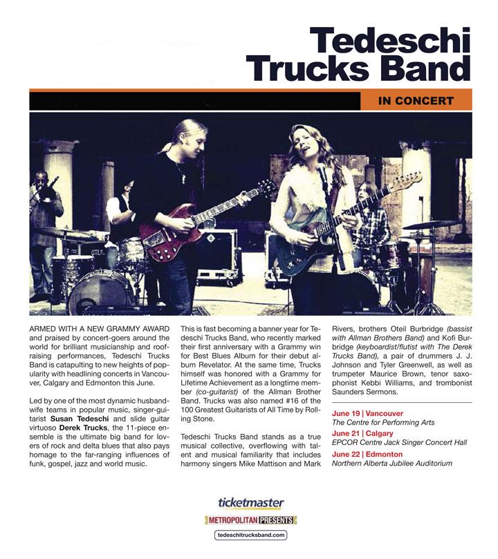 Tedeschi Trucks Band in Concert - Vancouver, Edmonton, Calgary