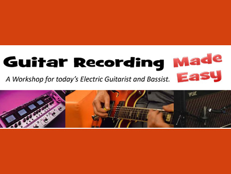 Guitar Recording Made Easy - Various Locations