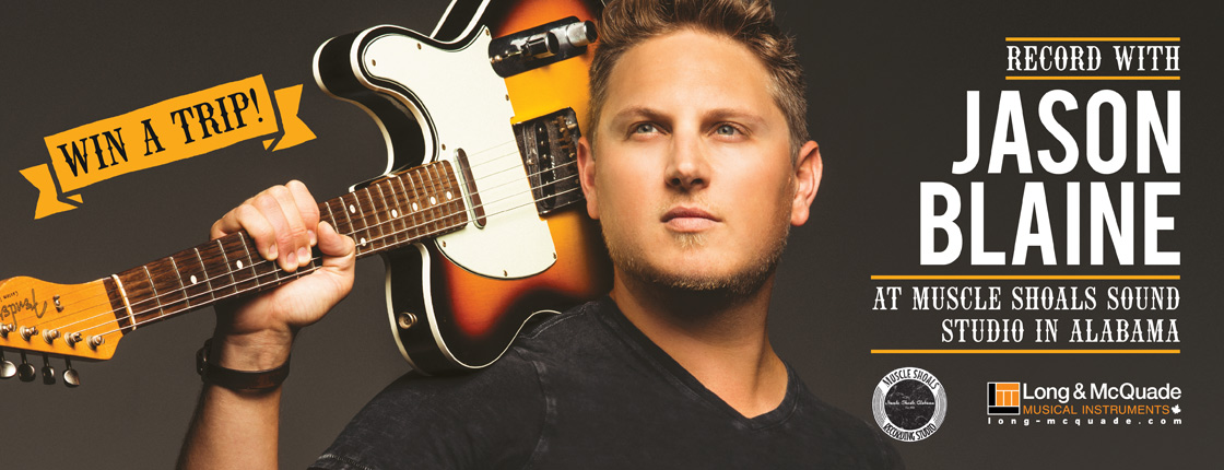 Win with Jason Blaine And Record at Muscle Shoals Studio in Alabama!