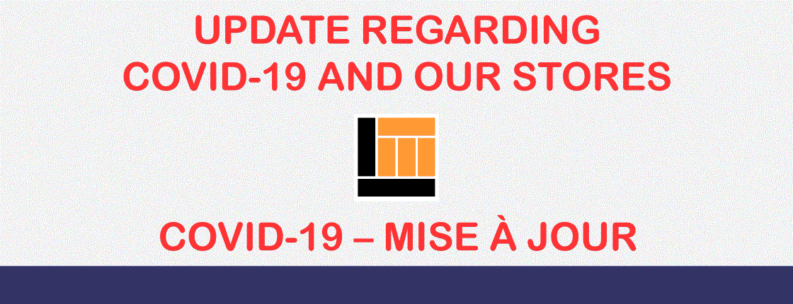Update Regarding COVID-19 and Our Stores and Lesson Centres