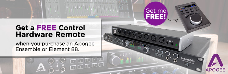 Get a FREE Apogee Control Hardware Remote!