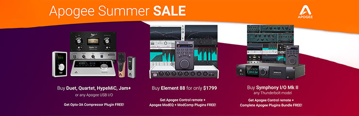 Apogee Summer Sale