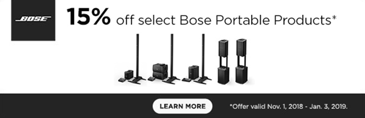 15% Off Select Bose Portable Products