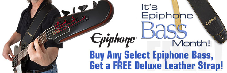 April is Epiphone Bass Month!