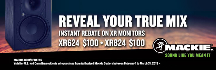 Save Up to $200 on a Pair of Mackie XR Series Monitors!