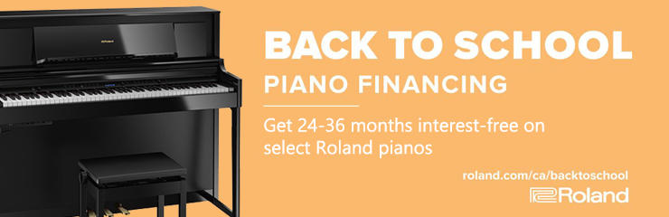 Roland Back to School Piano Financing