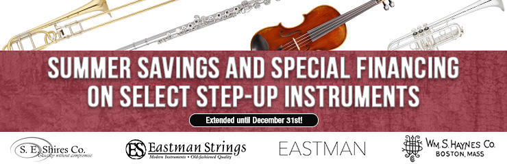 Summer Savings on Select Step-up Instruments!