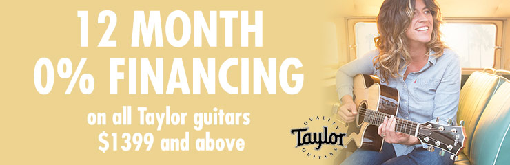 0% Financing on Taylor Guitars