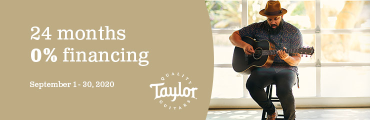 September Financing with Taylor Guitars
