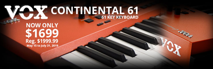 Vox Continental 61-Key Keyboard - Special Pricing!