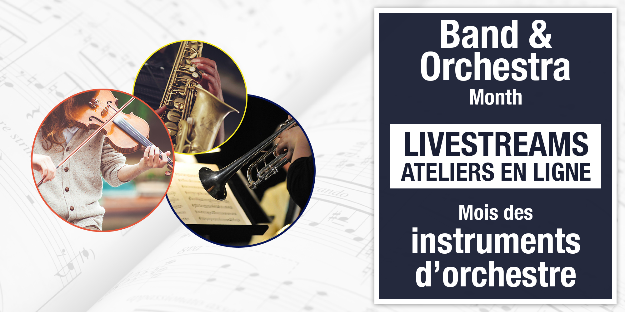 Band & Orchestra Month Virtual Workshops