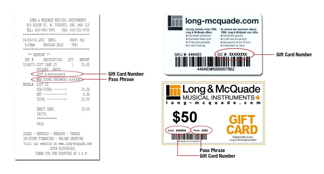 Gift Card Balance - Long & McQuade Musical Instruments