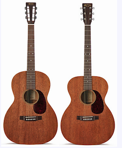 Martin 000-15 and 00-15S acoustic guitars