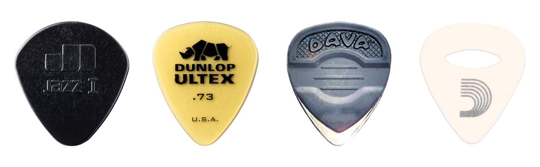 Selection Of Nylon Picks Ultex Metal And Our Felt