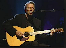 Eric Clapton and Martin 000-28 acoustic guitar