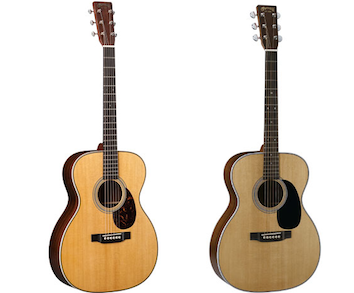 Martin 000-28 and OM-28 acoustic guitars