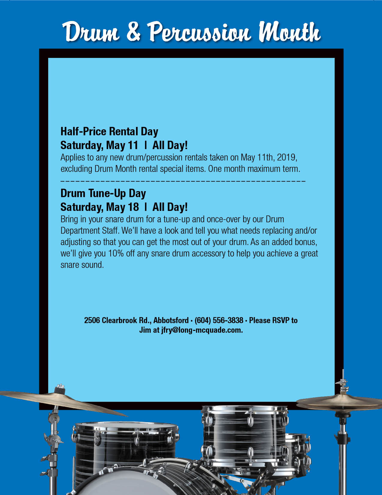 May is Drum and Percussion Month! - All Locations